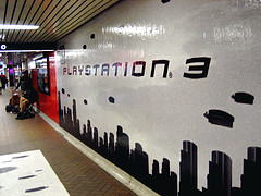 Playstation 3 Yonge + Eglinton station invasion.