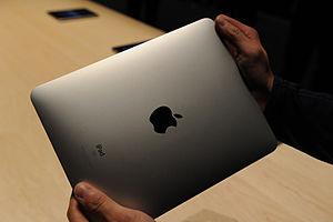 The brushed aluminum back of the iPad Wi-Fi