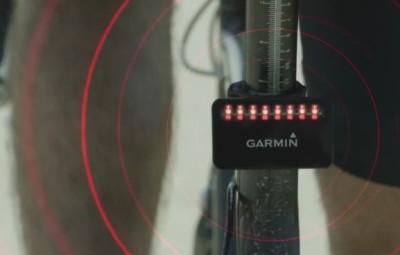 Garmin Varia Bike Rearview Radar Sensor - In Action