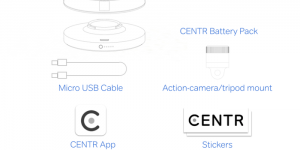 CENTR videocamera d'azione panoramica a 360°