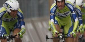 Grande Vincenzo Nibali, maglia rosa alla crono squadre di Savigliano-Cuneo