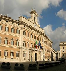 Roma: Palazzo Montecitorio (Camera dei Deputati)