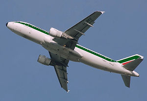An Alitalia Airbus A320.
