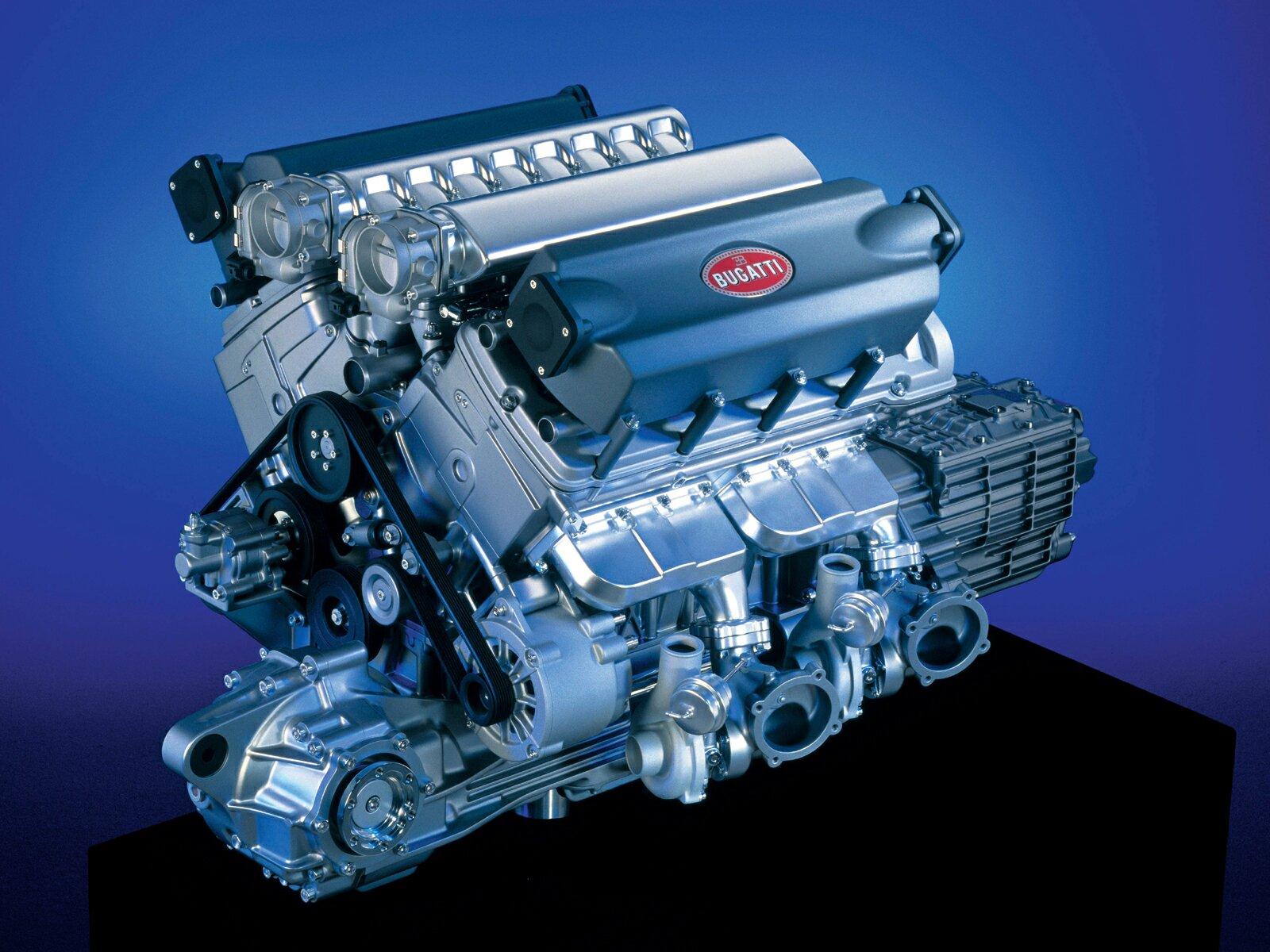 V16 bugatti veyron engine