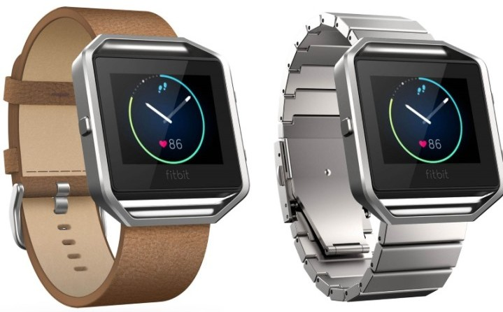 Fitbit's Blaze has loads of strap options, including leather and a metal link bracelet. (MUST CREDIT: Fitbit)
